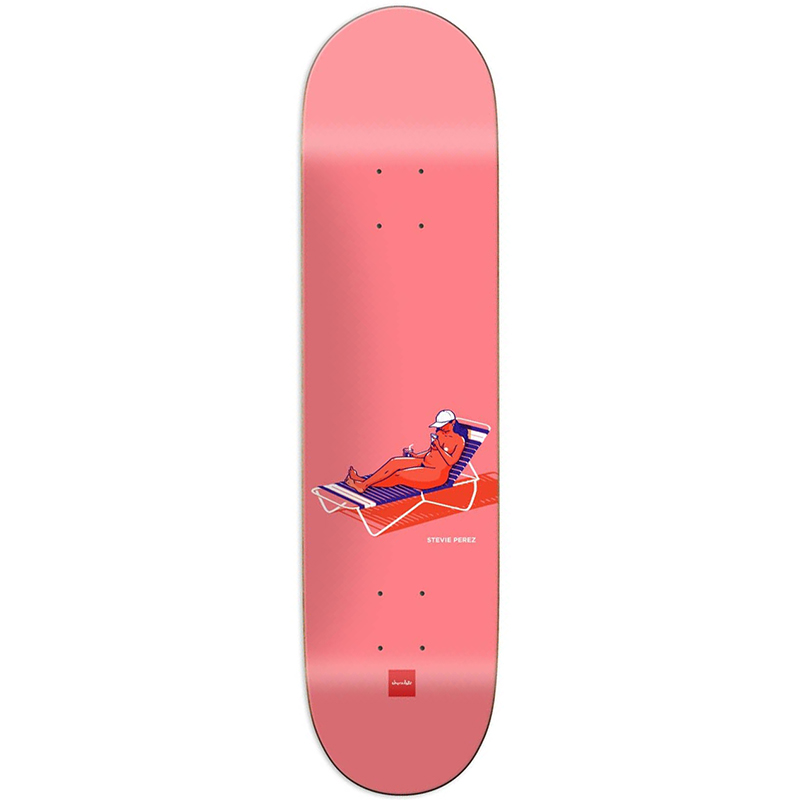 Chocolate Perez Sun Bathers Skateboard Deck 8.38
