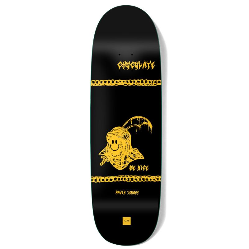 Chocolate Tershy Be Nice One Off Skateboarde Deck Black 9.25