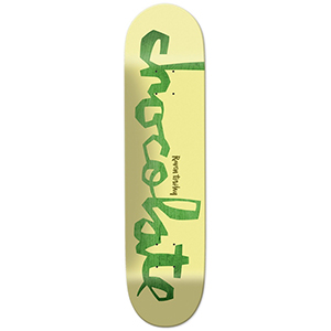 Chocolate Tershy Original Chunk Skateboard Deck Yellow/Green 8.5