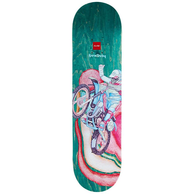 Chocolate Tershy Psych Bike Skateboard Deck 8.25