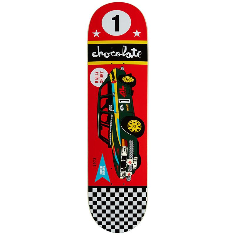 Chocolate Tershy Rally Cars Skateboard Deck 8.25