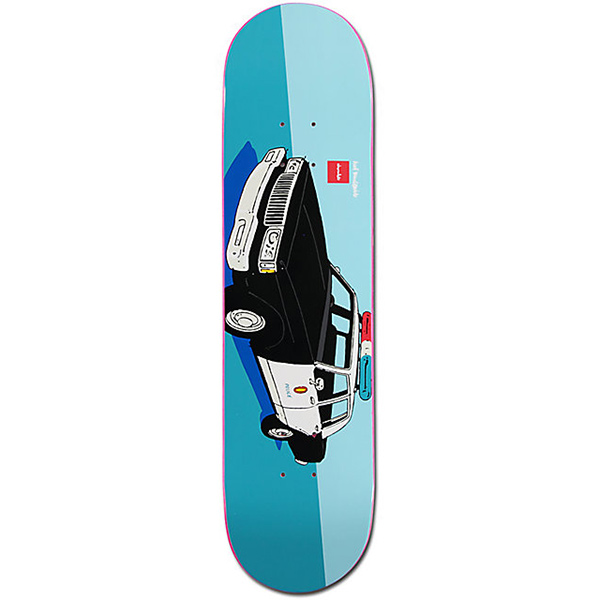 Chocolate x HUF Los Angeles Cop Car Skateboard Deck 8.0
