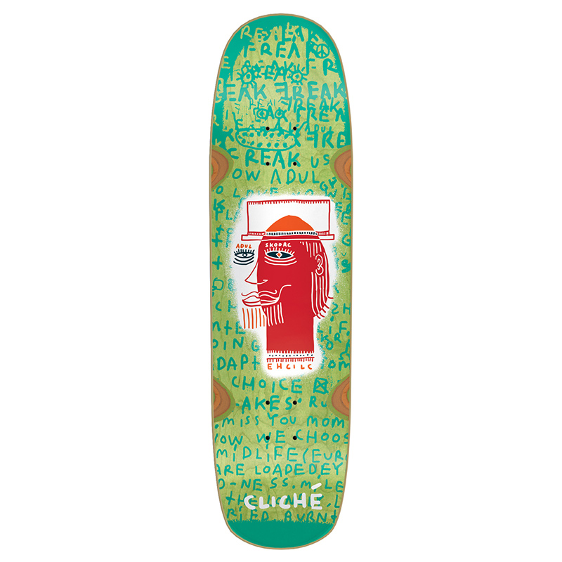Cliche Adul Skoorc -directional R7 Skateboard Deck 8.5