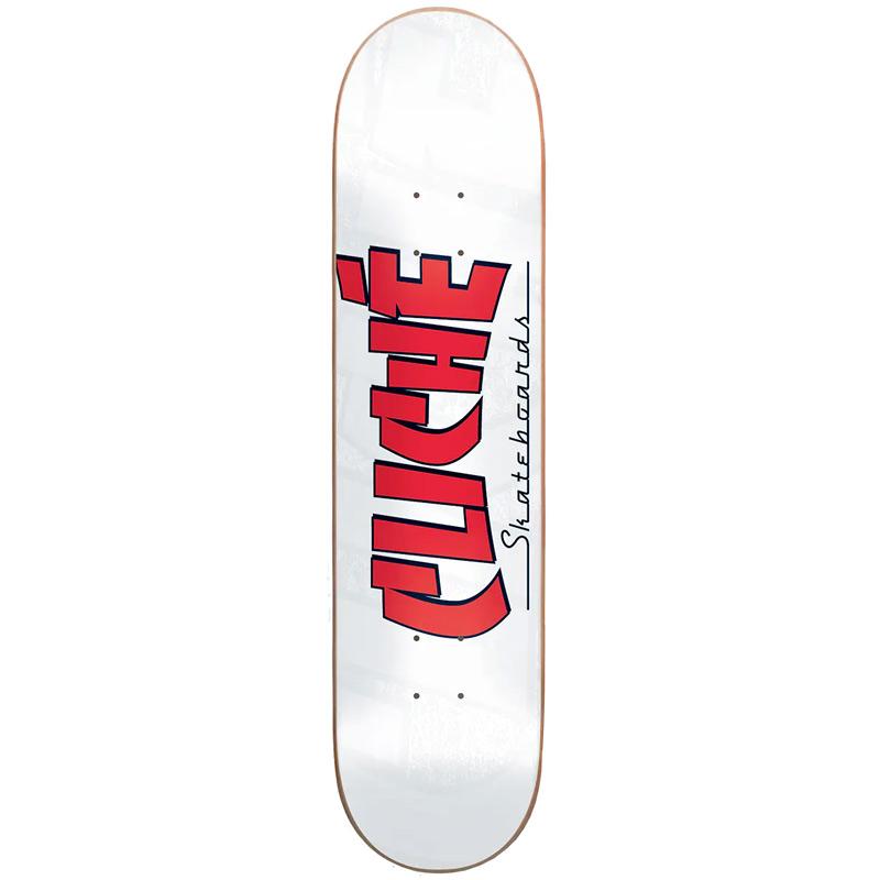 Cliché Banco RHM Skateboard Deck White 7.75