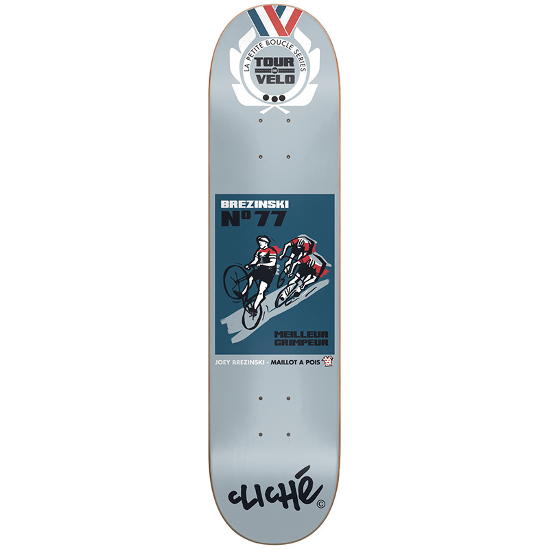 Cliche Brezinski Tour de Velo R7 Skateboard Deck 8.125