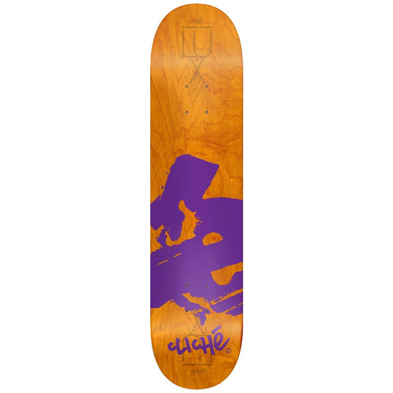 Cliché Europe RHM Skateboard Deck Orange 8.0
