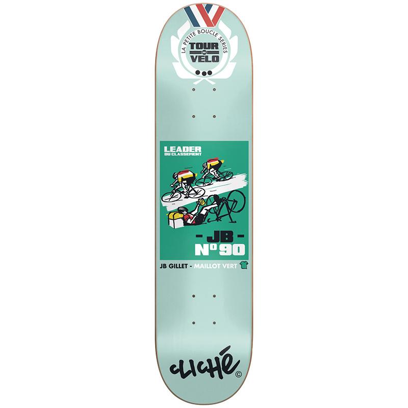 Cliche Gillet Tour de Velo R7 Skateboard Deck 8.0