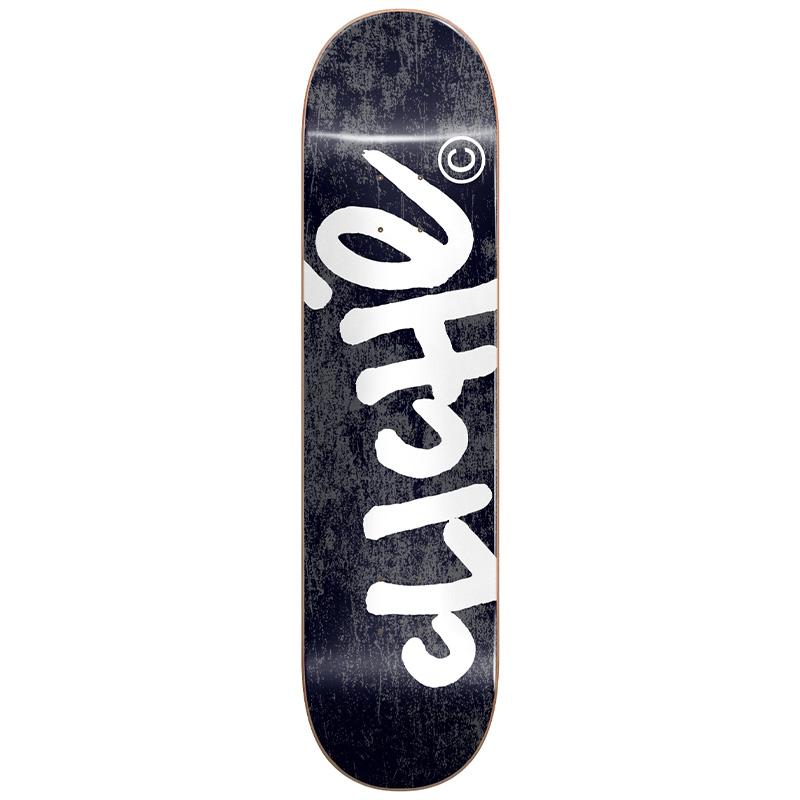 Cliché Handwritten RHM Skateboard Deck Black 8.25