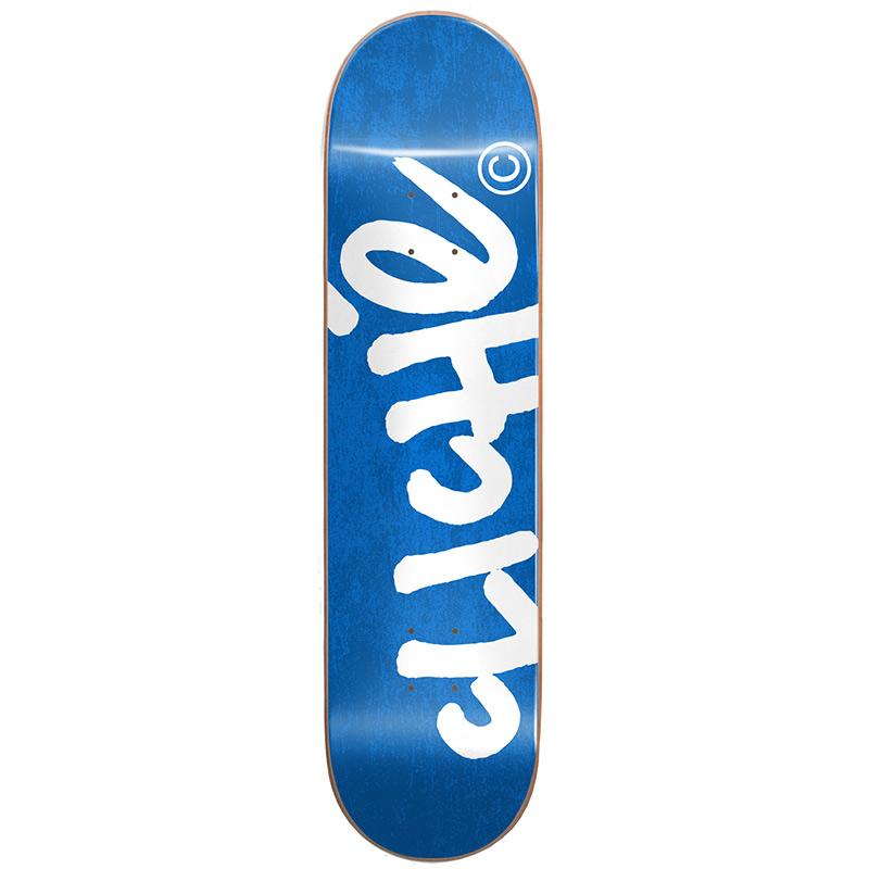 Cliché Handwritten RHM Skateboard Deck Blue/White 8.25