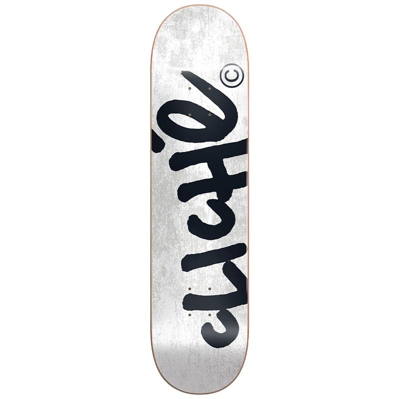 Cliché Handwritten RHM Skateboard Deck White 8.125
