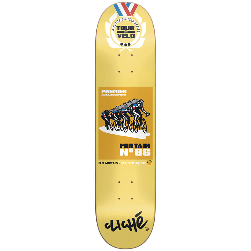 Cliche Mirtain Tour de Velo R7 Skateboard Deck 8.25