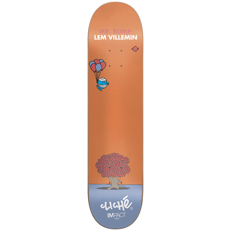 Cliche Villemin Mr. Men Impact Light Skateboard Deck 7.75