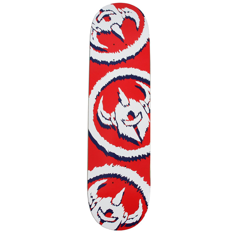 Darkstar Dissent RHM Skateboard Deck Red 8.25