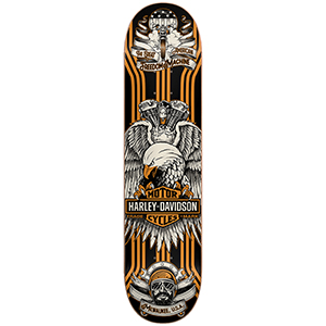 Darkstar Harley Davidson Eagle Lines HYB Skateboard Deck Yellow 7.875