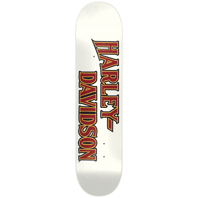 Darkstar Harley-Davidson Emboss Vintage HYB White Skateboard Deck 7.875