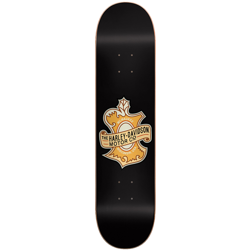 Darkstar Harley Davidson Oak Leaf HYB Skateboard Deck Black 8.0