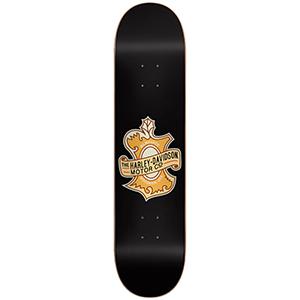 Darkstar Harley Davidson Oak Leaf HYB Skateboard Deck Black 8.0
