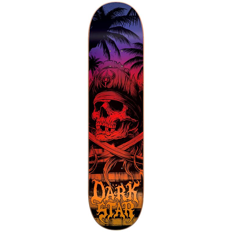 Darkstar Helm HYB Sunset Fade Skateboard Deck 8.0