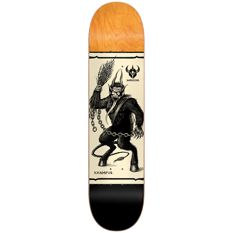Darkstar Krampus HYB Skateboard Deck Black 8.125