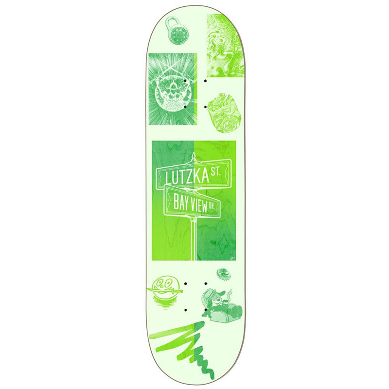 Darkstar Lutzka Cross Streets R7 Skateboard Deck 8.25