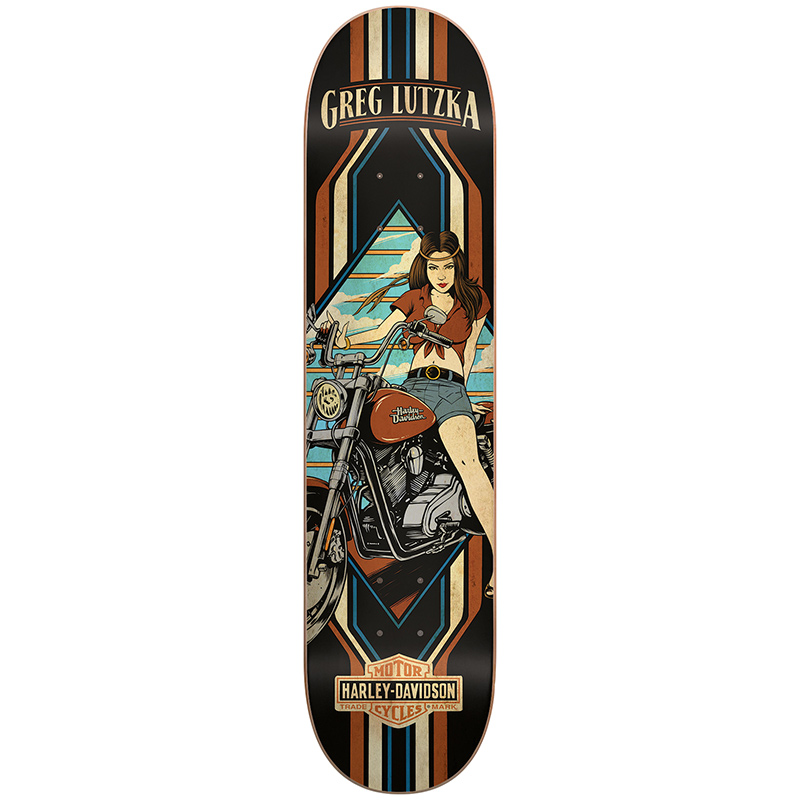 Darkstar Lutzka Harley-Davidson Skateboard Deck 8.125
