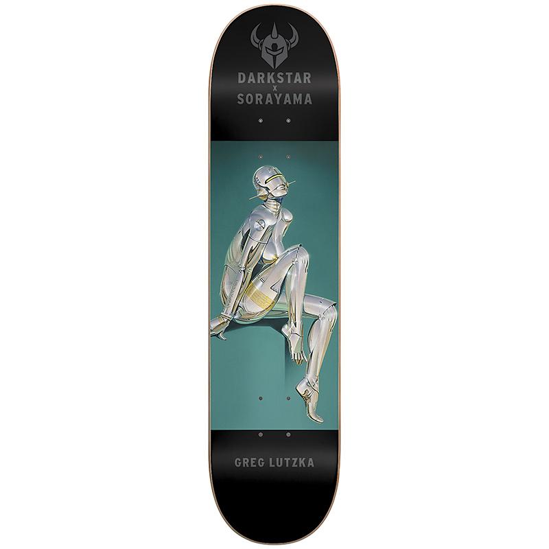 Darkstar x Sorayama Greg Lutzka R7 Skateboard Deck 8.125