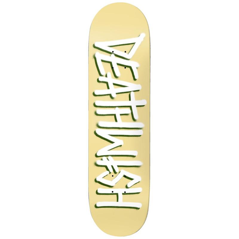 Deathwish Deathspray Pale Skateboard Deck Yellow 8.0
