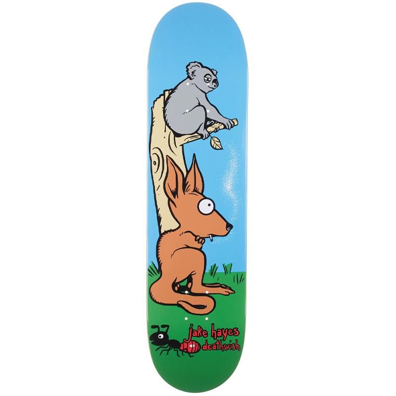 Deathwish Jake Hayes Smoking Roo Skateboard Deck 8.0