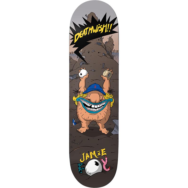 Deathwish Jamie Foy Ahhh Real Brute Skateboard Deck 8.0