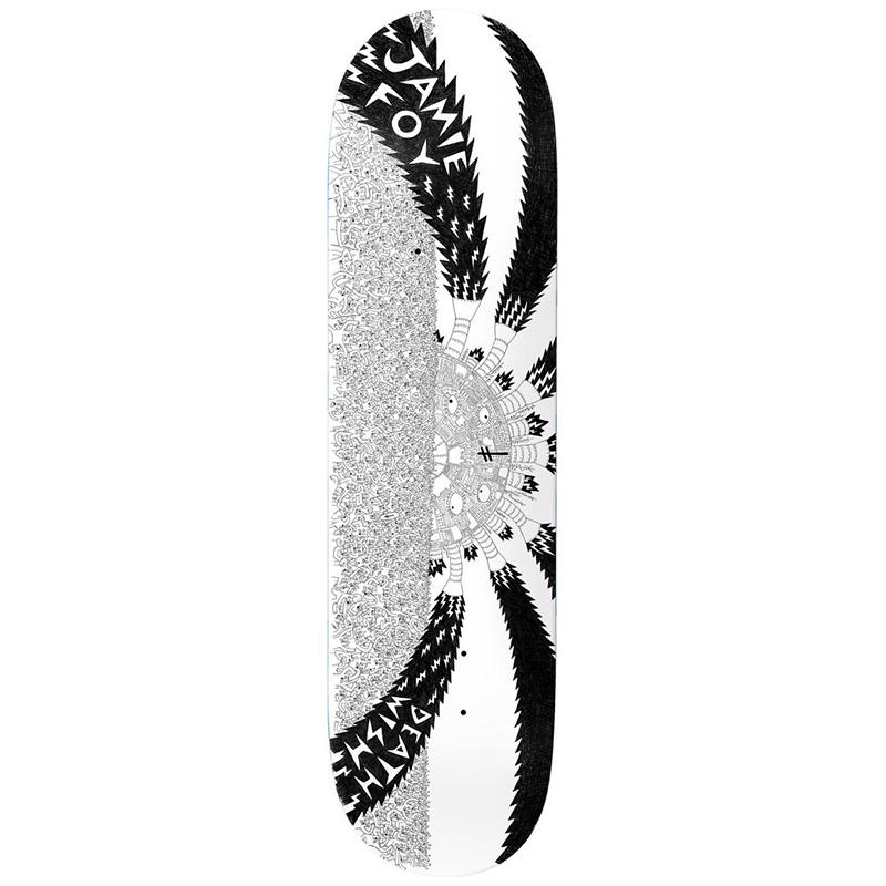 Deathwish Jamie Foy Death War 3000 Skateboard Deck 8.25