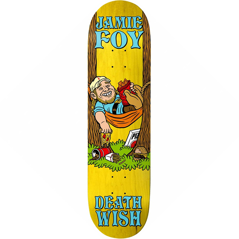 Deathwish Jamie Foy Happy Place Skateboard Deck 8.0
