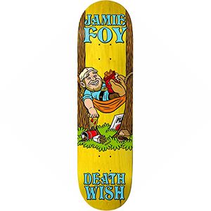 Deathwish Jamie Foy Happy Place Skateboard Deck 8.0
