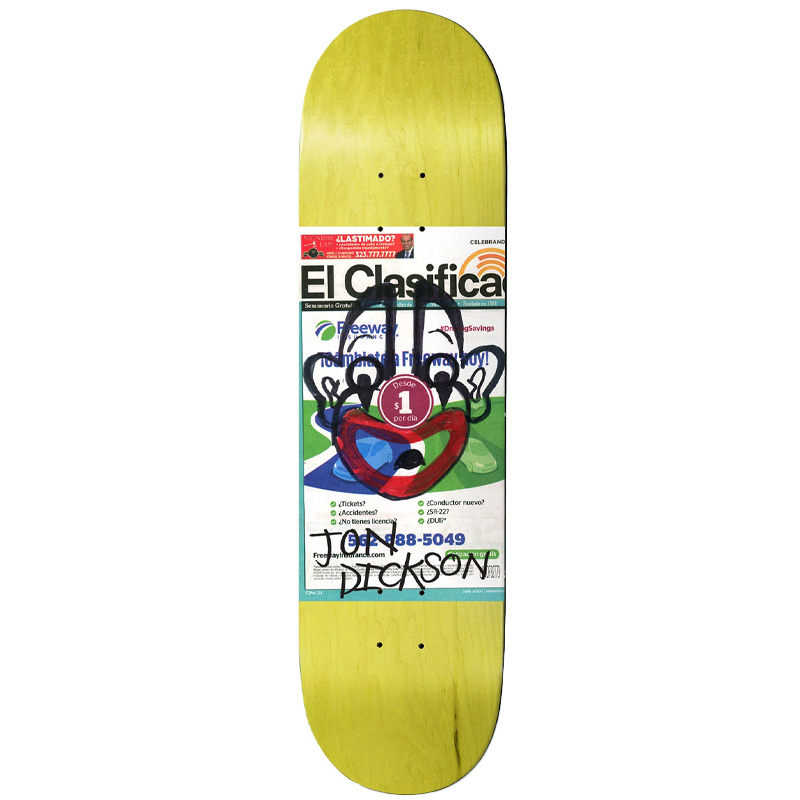 Deathwish Jon Dickson Chatman Skateboard Deck 8.0