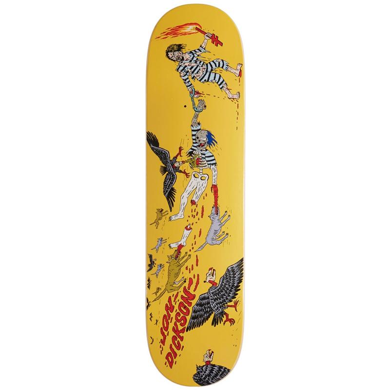Deathwish Jon Dickson Convicts Skateboard Deck 8.125