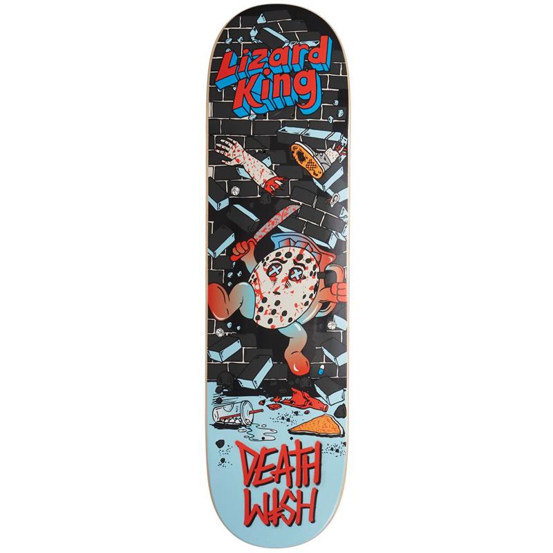 Deathwish Lizard King Death Toons Skateboard Deck 8.25