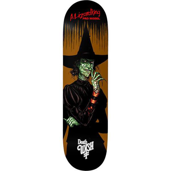 Deathwish Lizard King Nightmare In Emerald Skateboard Deck 8.0
