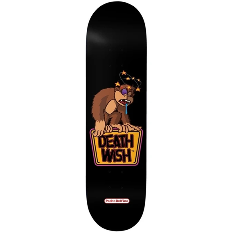 Deathwish Pedro Delfino Knocked Out Skateboard Deck 8.125