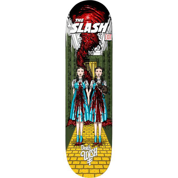 Deathwish Slash Nightmare In Emerald Skateboard Deck 8.25