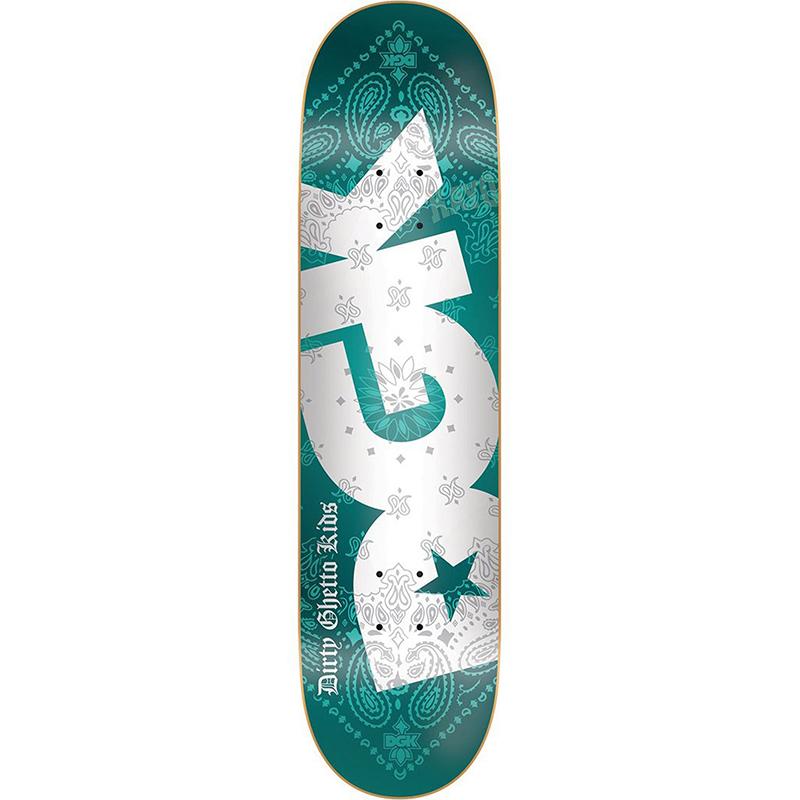 DGK Bandana Turqoise Foil Skateboard Deck 8.06