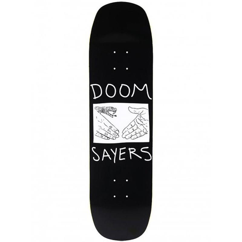 Doom Sayers Snake Shake Black/White Extra Large Deck 8.58