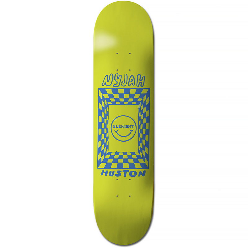 Element Nyjah Black Light Skateboard Deck 8.0