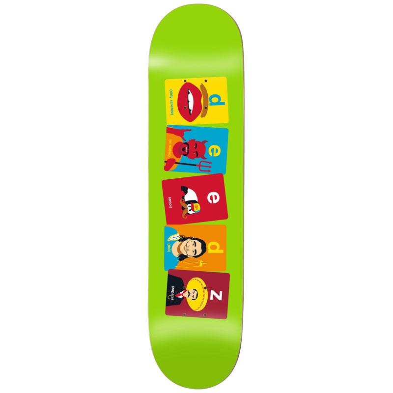 Enjoi Deedz Flashcards R7 Skateboard Deck 8.125