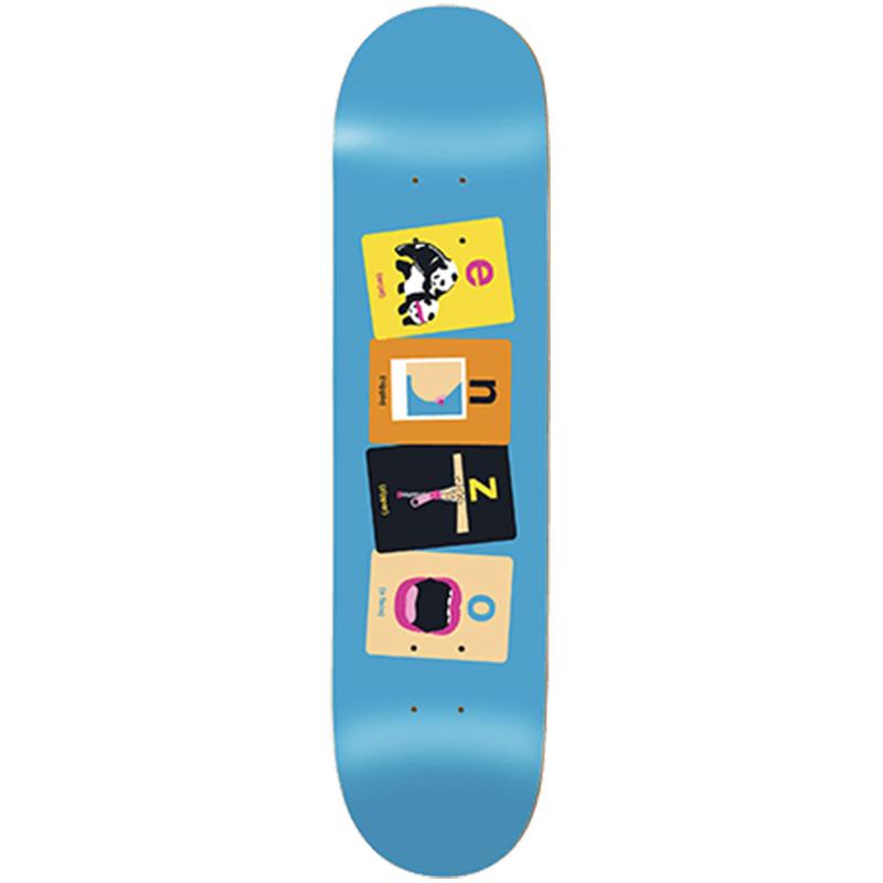 Enjoi Enzo Flashcards R7 Skateboard Deck 8.375