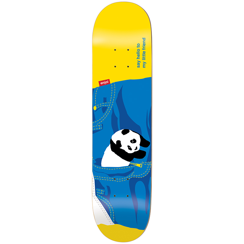 Enjoi Little Friend R7 Yellow Skateboard Deck 8.0