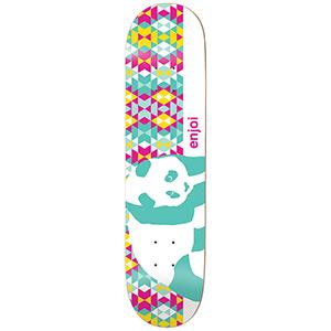 enjoi Mosaic Panda R7 Skateboard Deck Teal 8.25