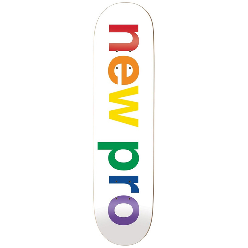 Enjoi New Pro HYB Skateboard Deck White 8.125