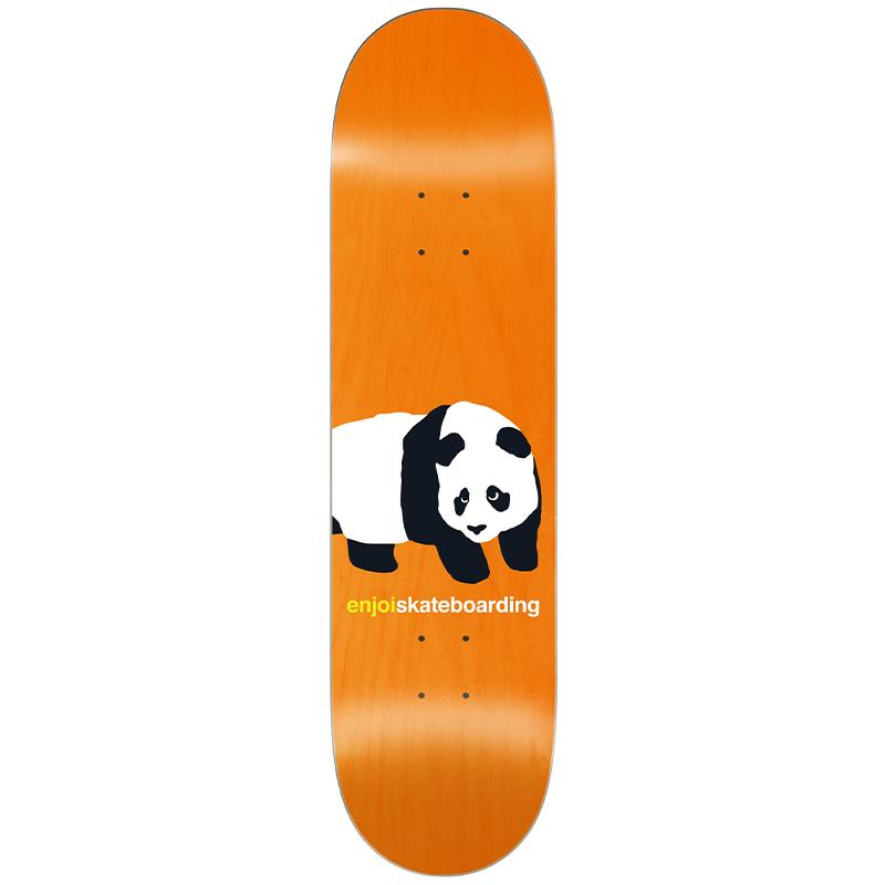 Enjoi Peekaboo Panda R7 Skateboard Deck Orange 8.5