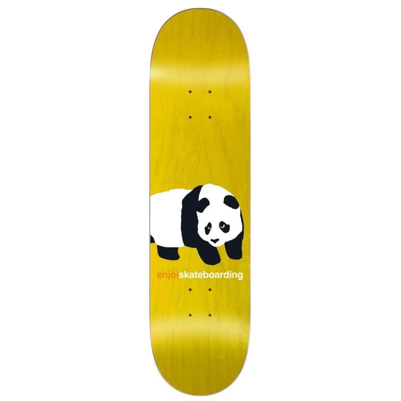 Enjoi Peekaboo Panda R7 Skateboard Deck Yellow 8.0