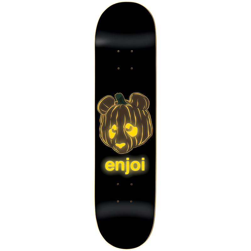 Enjoi Pumpkin Spice (Glow in the Dark) R7 Black Skateboard Deck 8.0
