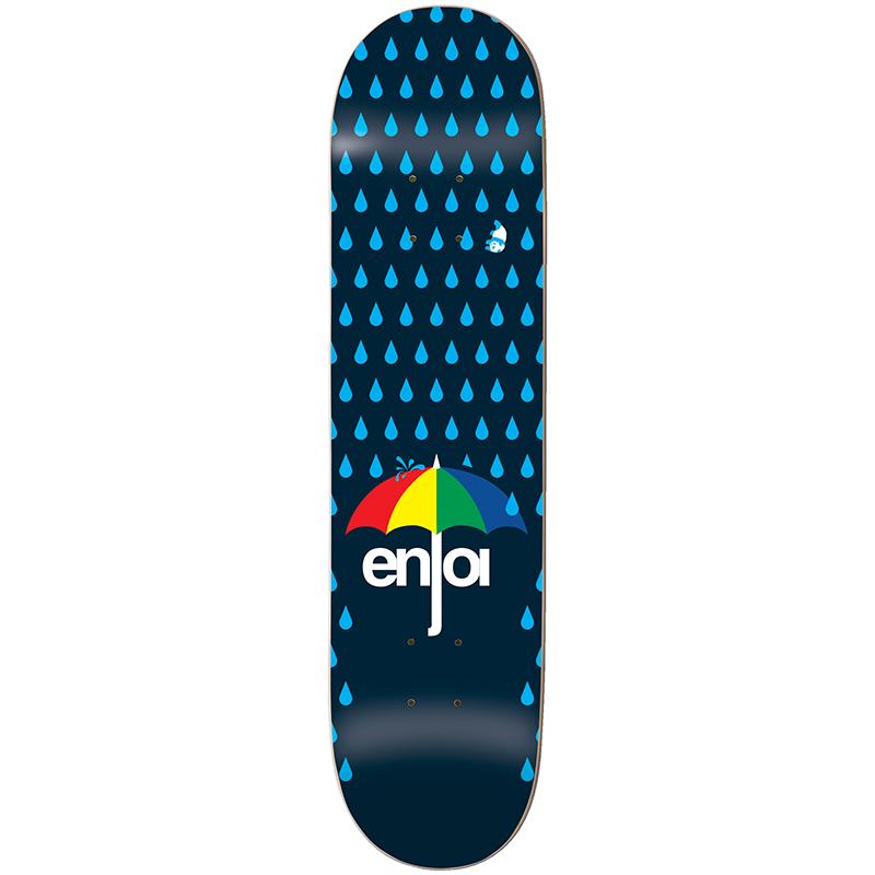 enjoi Raining Panda Skateboard Deck Dark Blue 8.0